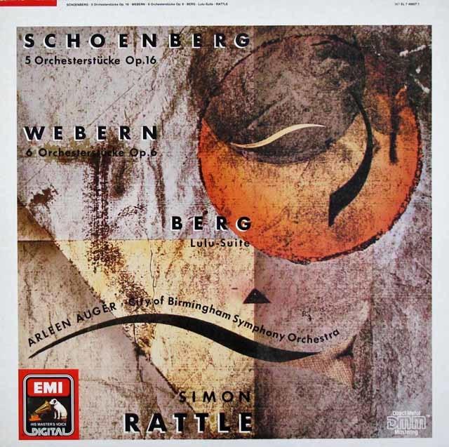 ラトルのシェーンベルク/「5つの管弦楽曲」ほか 独EMI 3124 LP レコード