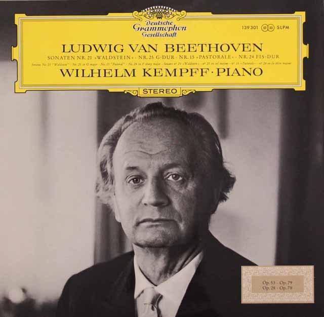 ケンプのベートーヴェン/ピアノソナタ第21番「ワルトシュタイン」、25、15、24番 独DGG 3124 LP レコード