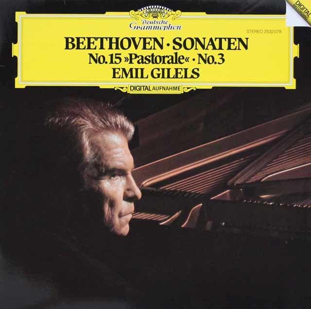 ギレリスのベートーヴェン/ピアノソナタ第3&15番「田園」 独DGG 3124 LP レコード