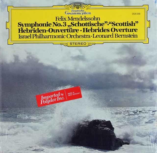 【未開封】 バーンスタインのメンデルスゾーン/交響曲第3番「スコットランド」 独DGG 3124 LP レコード