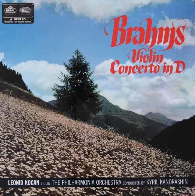 コーガン&コンドラシンのブラームス/ヴァイオリン協奏曲 英REGAL(EMI) 3124 LP レコード