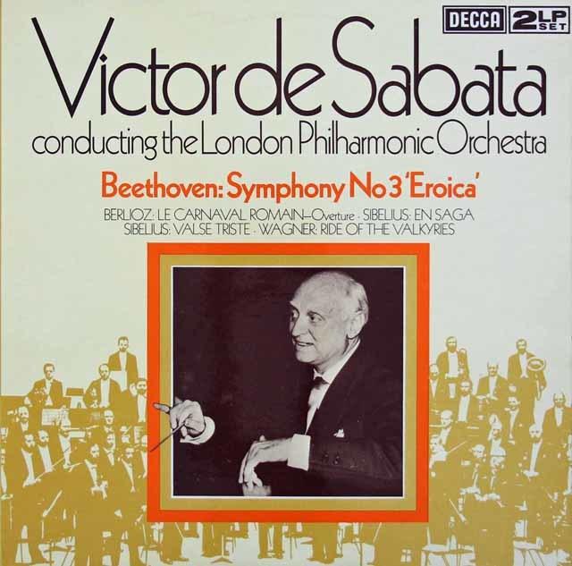 サバタのベートーヴェン/交響曲第3番「英雄」ほか 英DECCA 3124 LP レコード