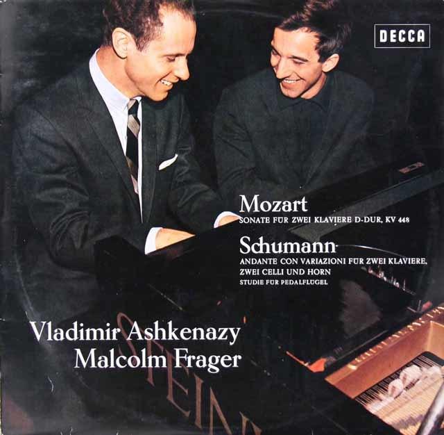 アシュケナージ&フレイジャーのモーツァルト/2台のピアノのためのソナタほか 独DECCA 3124 LP レコード