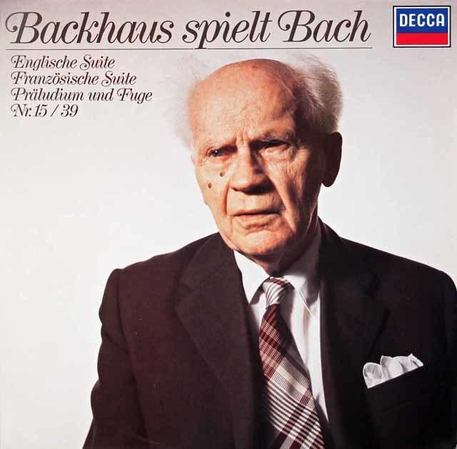 バックハウスのバッハ/作品集 独DECCA 3124 LP レコード