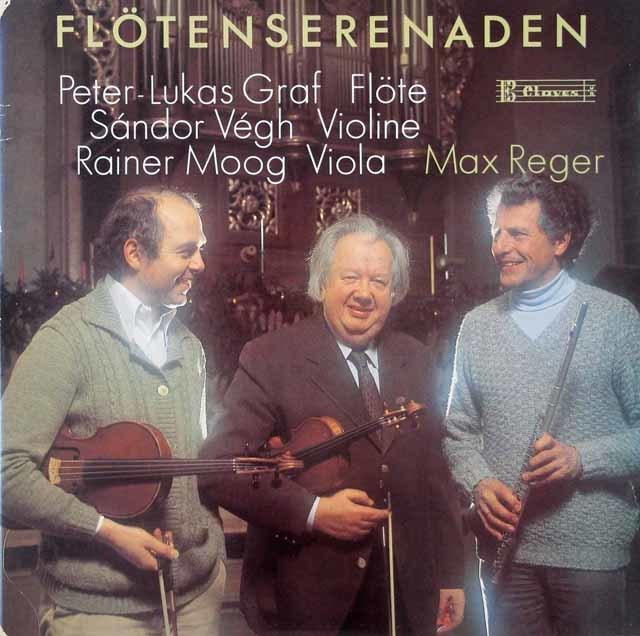 グラーフ、ヴェーグ&モーグのレーガー/セレナード集 スイスClaves 3124 LP レコード