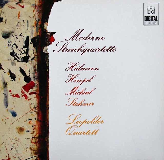 レオポルト四重奏団のミヒャエル/弦楽四重奏曲第4番「エロスの変容」ほか 独DABRINGHAUS UND GRIMM 3124 LP レコード