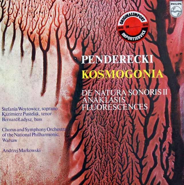 マルコフスキのペンデレツキ/「コスモゴニア」ほか 蘭PHILIPS 3124 LP レコード