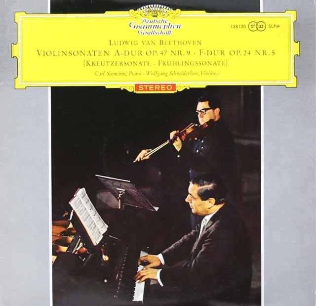【赤ステレオ、オリジナル盤】シュナイダーハン&ゼーマンのベートーヴェン/ヴァイオリンソナタ全集 独DGG 3125 LP レコード