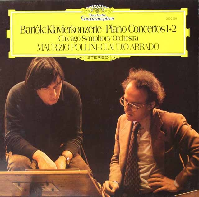 ポリーニ&アバドのバルトーク/ピアノ協奏曲第1&2番 独DGG 3125 LP レコード