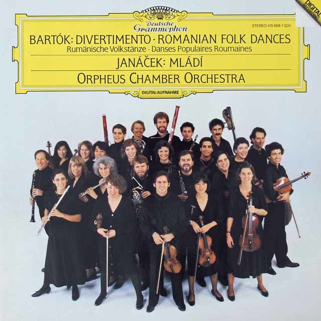オルフェウス室内管弦楽団のバルトーク/「ディヴェルティメント」ほか 独DGG 3125 LP レコード