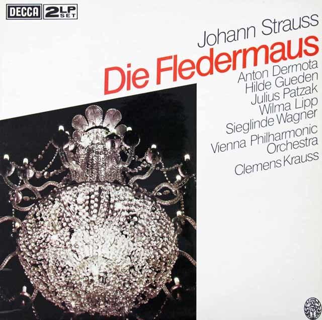 クラウスのJ.シュトラウス/「こうもり」 英DECCA 3125 LP レコード