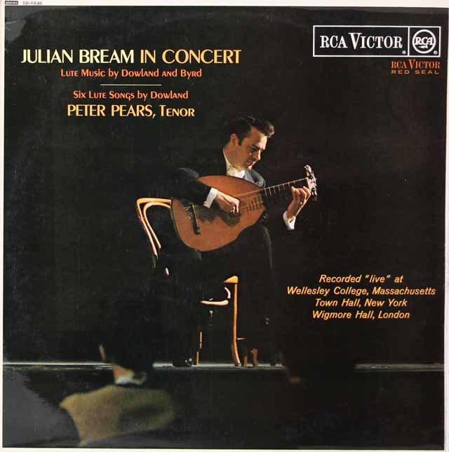 ピアーズ&ブリームのダウランド&バード/リュート歌曲集 英RCA 3125 LP レコード
