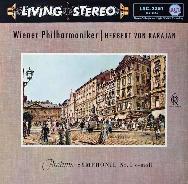 カラヤンのブラームス/交響曲第1番  独RCA 3125 LP レコード