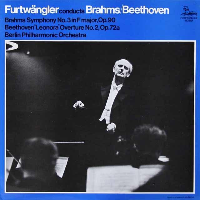 フルトヴェングラーのブラームス/交響曲第3番ほか 英UNICORN 3125 LP レコード