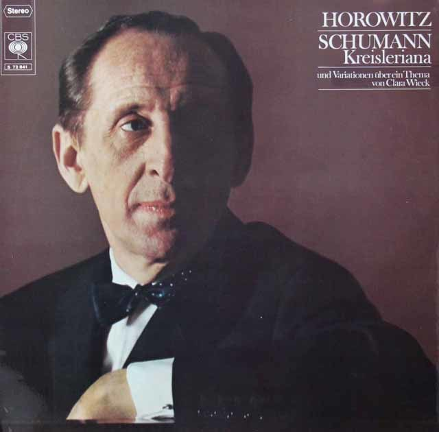 ホロヴィッツのシューマン/「クライスレリアーナ」ほか 独CBS 3125 LP レコード