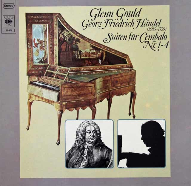 グールドのヘンデル/チェンバロ組曲第1-4番 独CBS 3125 LP レコード