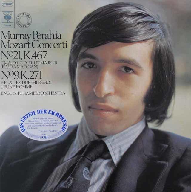 ペライアのモーツァルト/ピアノ協奏曲第9番&第21番 独CBS 3125 LP レコード