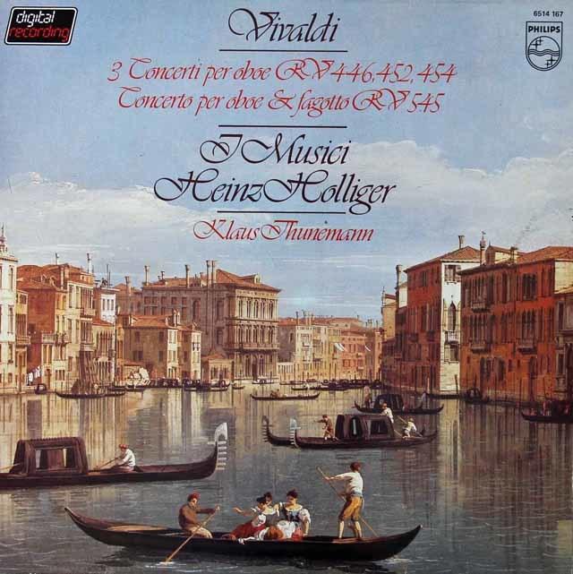 ホリガー&イ・ムジチによるヴィヴァルディ/オーボエ協奏曲集 蘭PHILIPS 3125 LP レコード