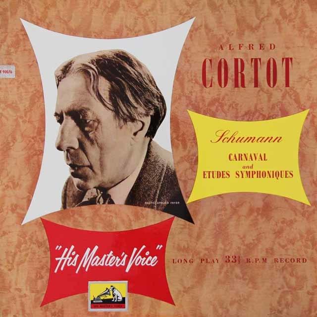 【オリジナル盤】コルトーのシューマン/「謝肉祭」&「交響的練習曲」 英EMI 3125 LP レコード