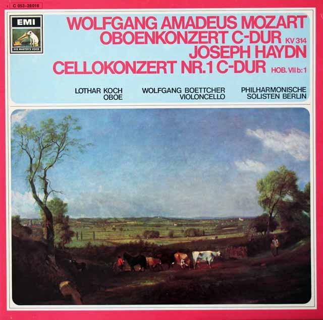 コッホのモーツァルト/オーボエ協奏曲&ベッチャーのハイドン/チェロ協奏曲第1番 独ELECTROLA 3125 LP レコード