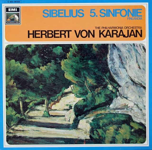 カラヤンのシベリウス/交響曲第5番&「フィンランディア」 独EMI 3125 LP レコード