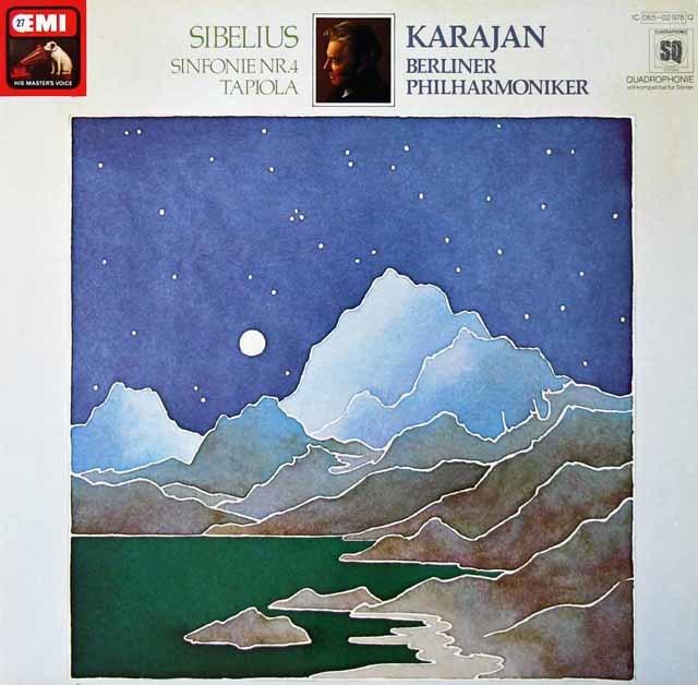 カラヤンのシベリウス/交響曲第4番&「タピオラ」 独EMI 3125 LP レコード