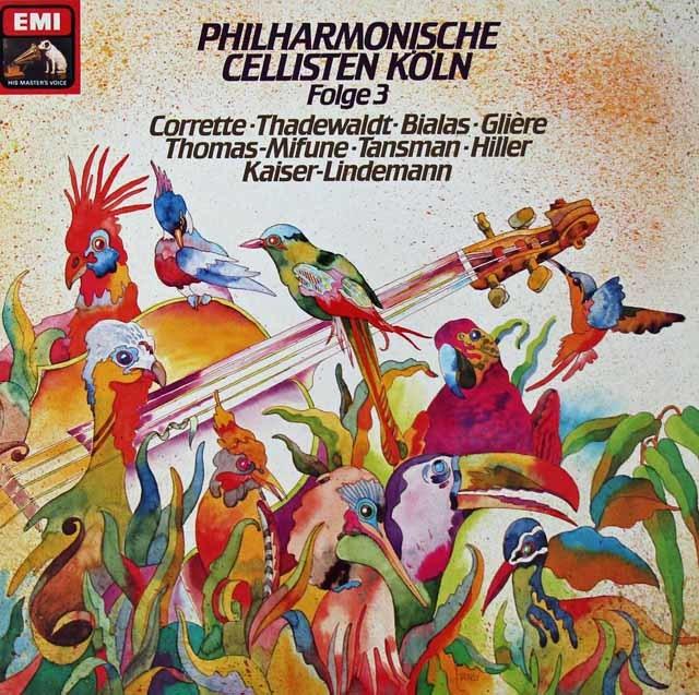 フィルハーモニッシェ・チェリステン・ケルンのチェロ・アンサンブル集第3巻 独EMI 3125 LP レコード
