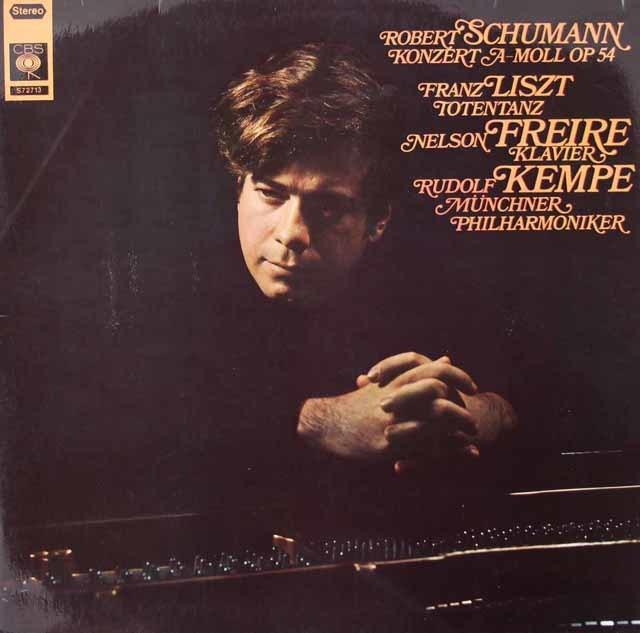 フレイレ&ケンペのシューマン/ピアノ協奏曲ほか 独CBS 3126 LP レコード