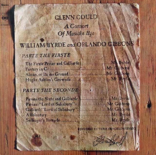 グールドのバードとギボンズ作品集 独CBS 3126 LP レコード