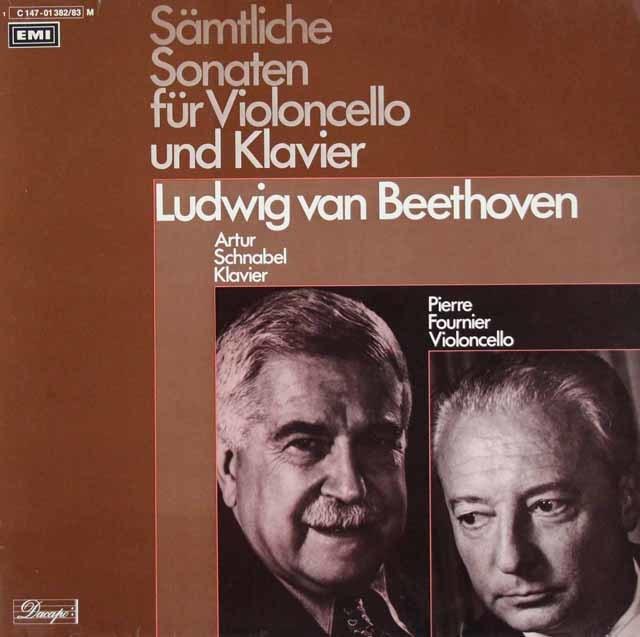 シュナーベル&フルニエのベートーヴェン/チェロソナタ全集 独Dacapo 3126 LP レコード