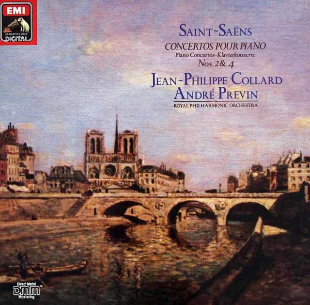 コラール&プレヴィンのサン=サーンス/ピアノ協奏曲第2&4番 独EMI 3126 LP レコード