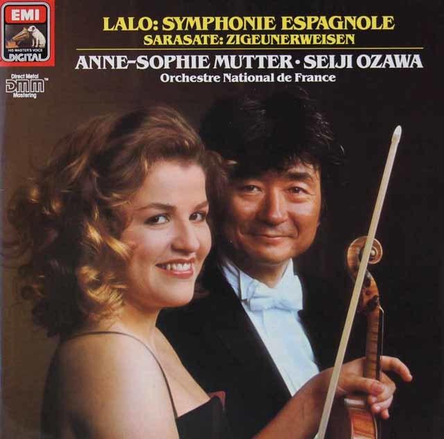 ムター&小澤のラロ/スペイン交響曲ほか 独EMI 3126 LP レコード