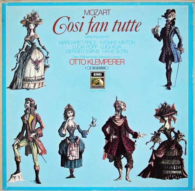 クレンペラーのモーツァルト/「コシ・ファン・トゥッテ」 独EMI 3126 LP レコード