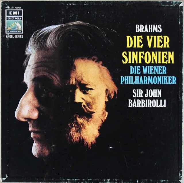 【サンプル盤(最初期盤)】 バルビローリのブラームス/交響曲全集 独ELECTROLA 3126 LP レコード