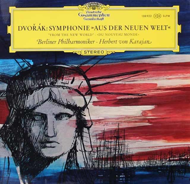 【独最初期盤】 カラヤンのドヴォルザーク/交響曲第9番「新世界より」 独DGG 3126 LP レコード