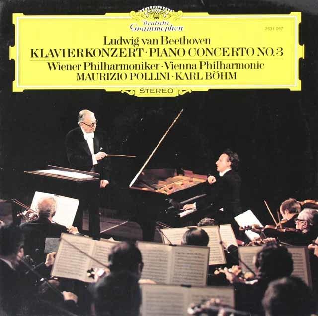ポリーニ&ベームのベートーヴェン/ピアノ協奏曲第3番 独DGG 3126 LP レコード