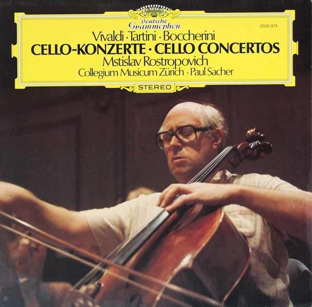 ロストロポーヴィチ&ザッヒャーのチェロ協奏曲集 独DGG 3126 LP レコード
