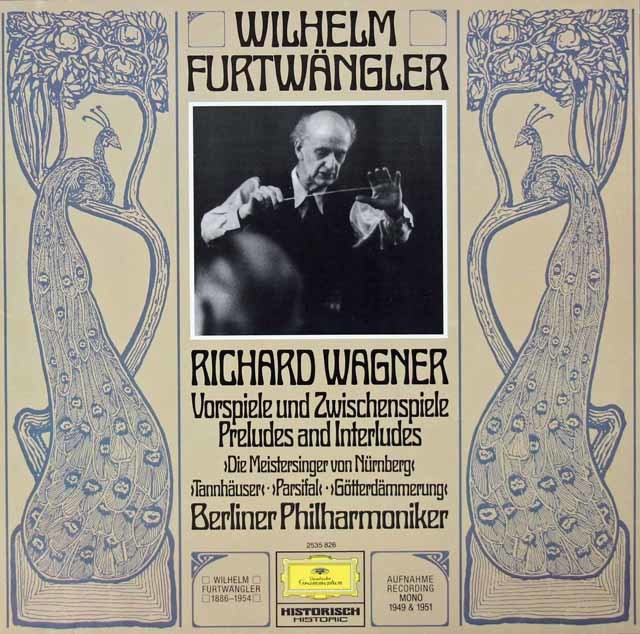 フルトヴェングラーのワーグナー/「マイスタージンガー」第1幕への前奏曲ほか 独DGG 3126 LP レコード