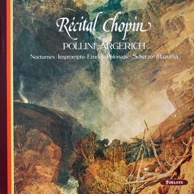 ポリーニ、アルゲリッチのショパン・コンクール・リサイタル 仏FORLANE 3126 LP レコード