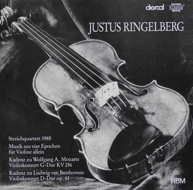リンゲンベルク四重奏団の「弦楽四重奏曲1988」ほか 独RBM 3126 LP レコード