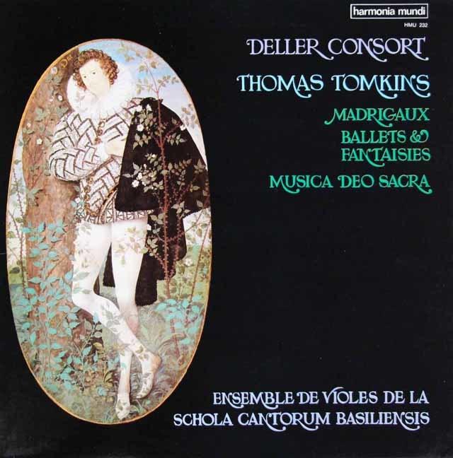 デラー・コンソートのトムキンズ/マドリガル・バレット・ファンタジア&神聖なる神の音楽 仏HM 3126 LP レコード