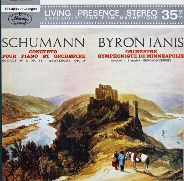 ジャニス&スクロヴァチェフスキのシューマン/ピアノ協奏曲 仏Mercury 3126 LP レコード
