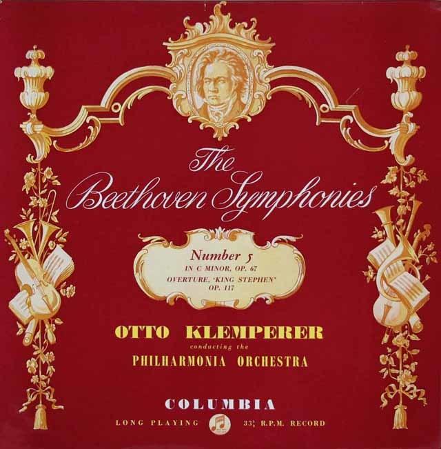 クレンペラーのベートーヴェン/交響曲第5番「運命」ほか 英Columbia 3126 LP レコード