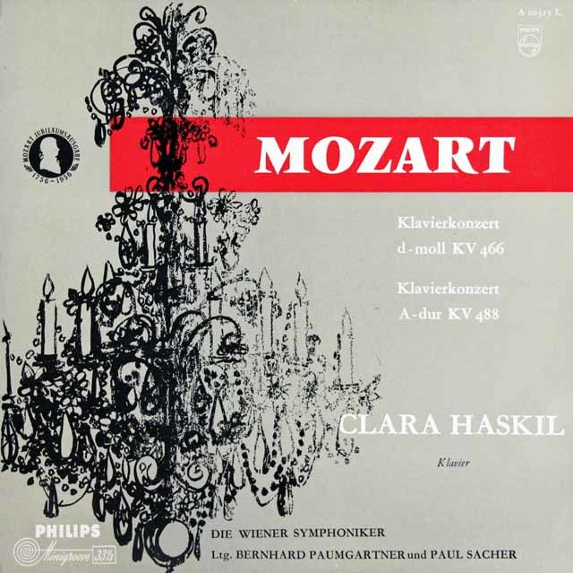 ハスキル&パウムガルトナーらのモーツァルト/ピアノ協奏曲第20&23番 独PHILIPS 3127 LP レコード