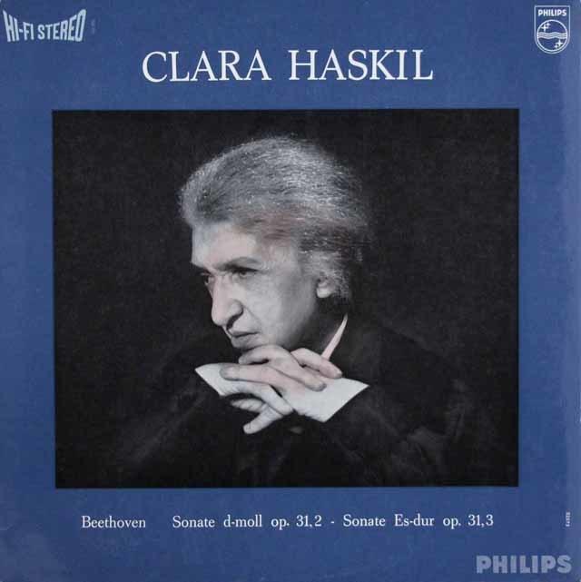 ハスキルのベートーヴェン/ピアノソナタ第17番「テンペスト」&第18番 蘭PHILIPS 3127 LP レコード