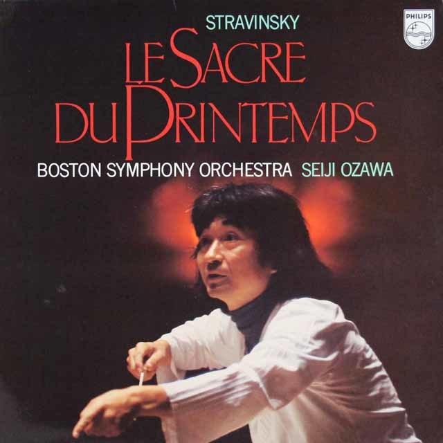 小澤のストラヴィンスキー/「春の祭典」 蘭PHILIPS  3127 LP レコード