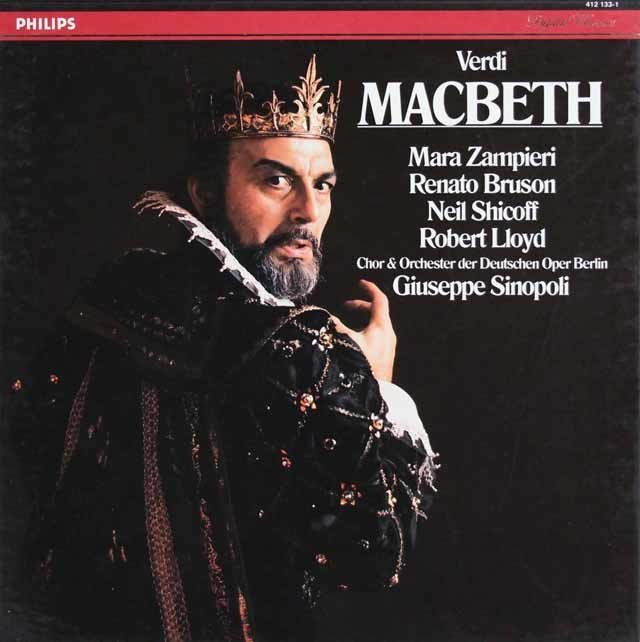 シノーポリのヴェルディ/「マクベス」全曲   蘭PHILIPS 3127 LP レコード