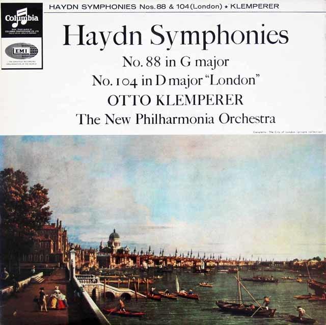 クレンペラーのハイドン/交響曲第88&104番「ロンドン」 英Columbia 3127 LP レコード