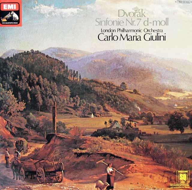 ジュリーニのドヴォルザーク/交響曲第7番  独EMI 3127 LP レコード
