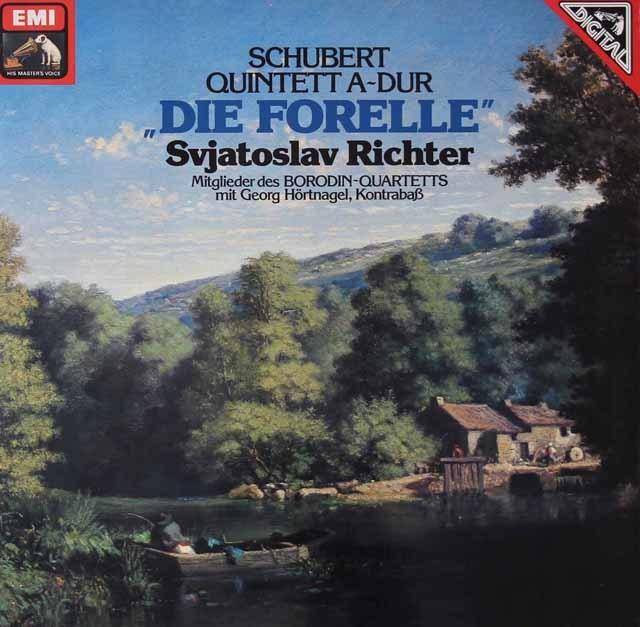リヒテル&ボロディン四重奏団のシューベルト/「ます」 独EMI 3127 LP レコード